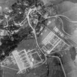 Letecký snímek tábora Kostelní Bříza